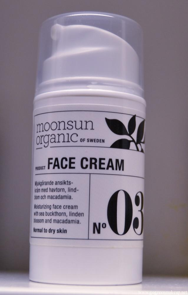moonsun organic face cream