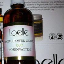 Ansiktsvatten x 2 – recension Loelle Rose Flower Water