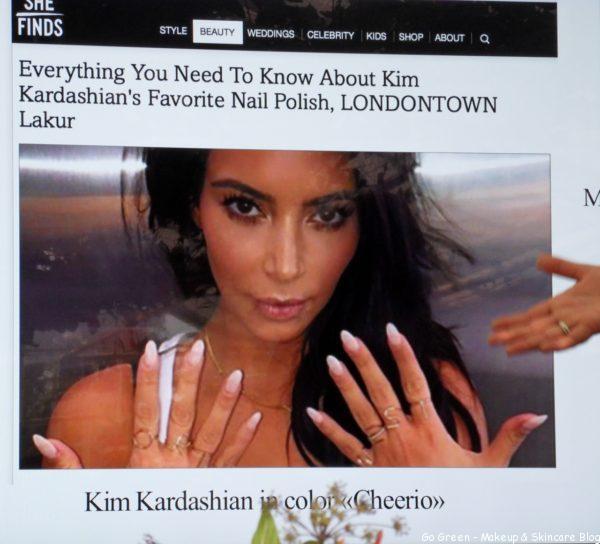 Sverigelansering Londontown kim kardashian fave nail polish