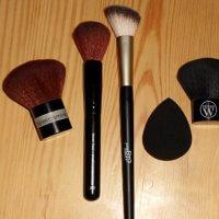 blandat makeupredskap