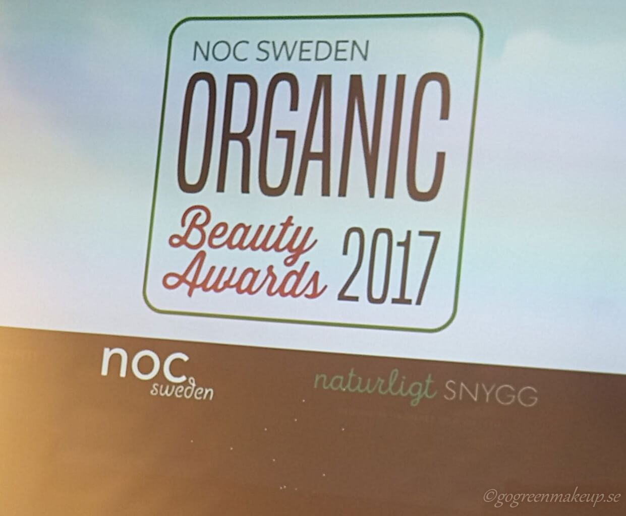 organic beauty awards 2017