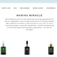 Marina Miracle i Sverige