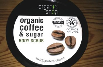 organic shop coffee scrub