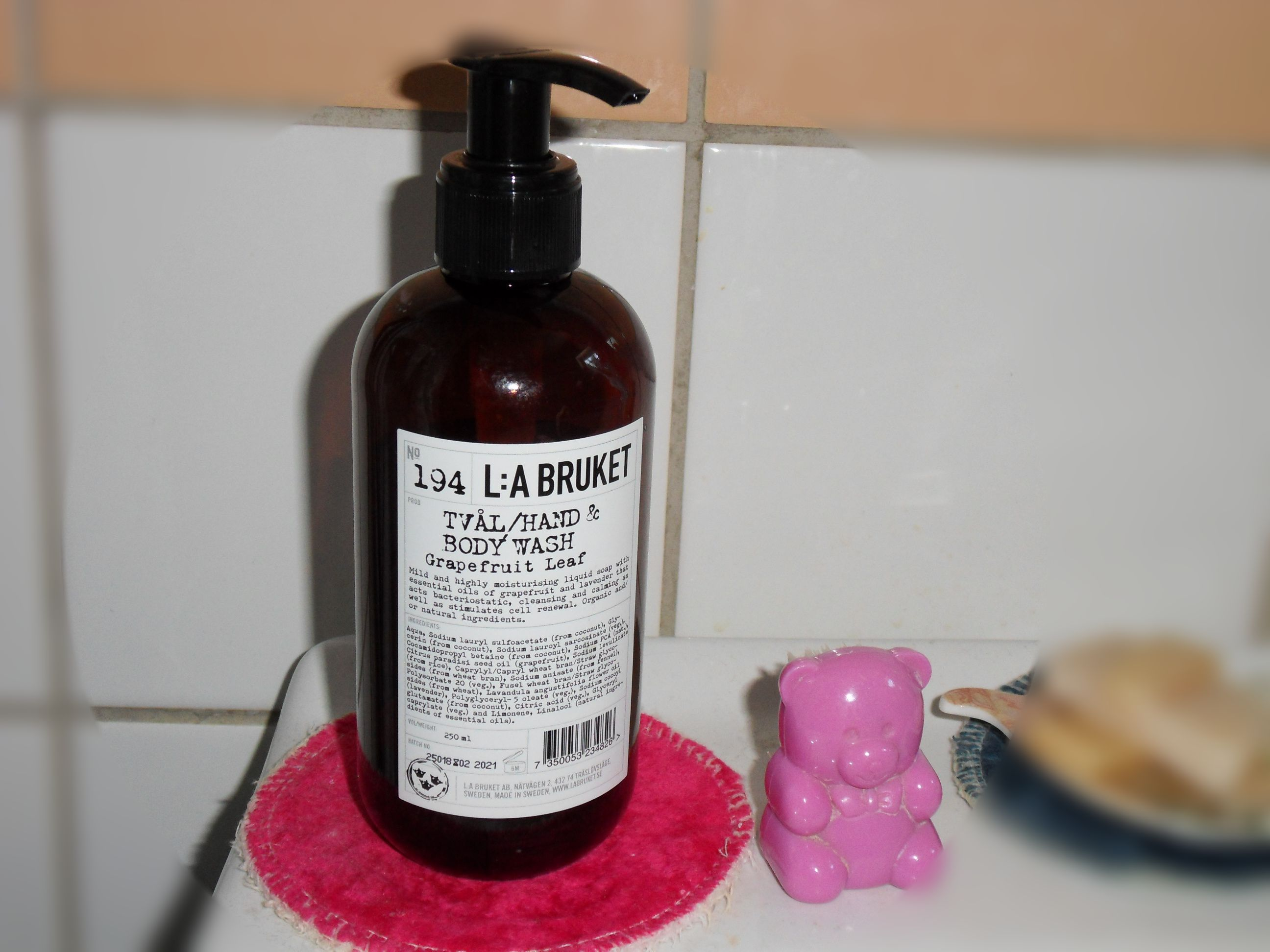 hand and body wash grapefruit leaf