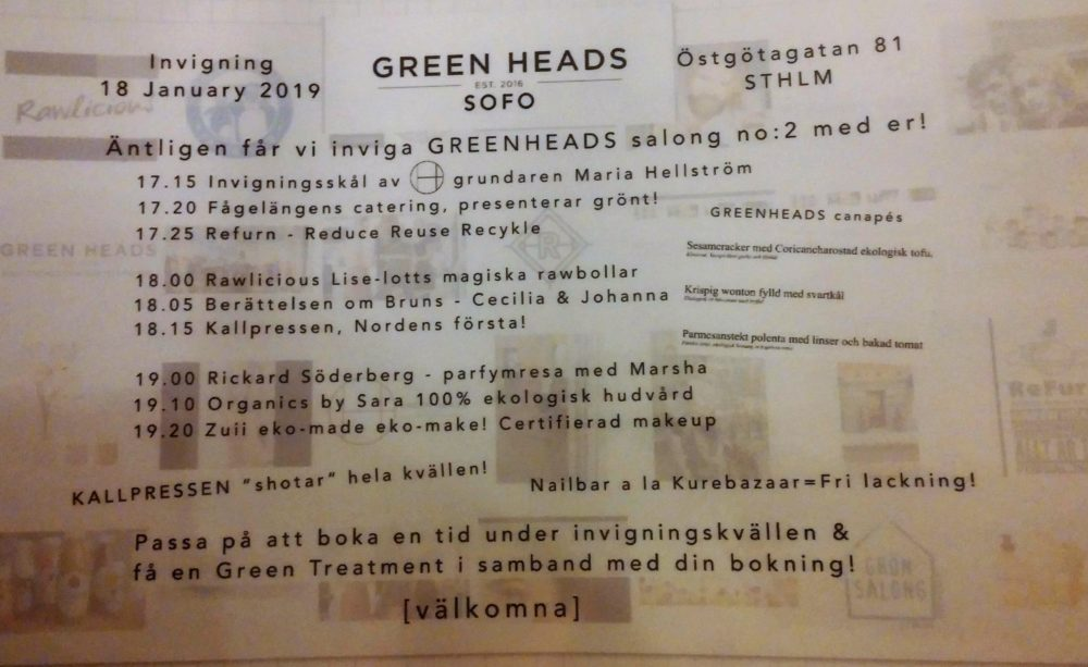 Invigningsfest Green Heads Sofo