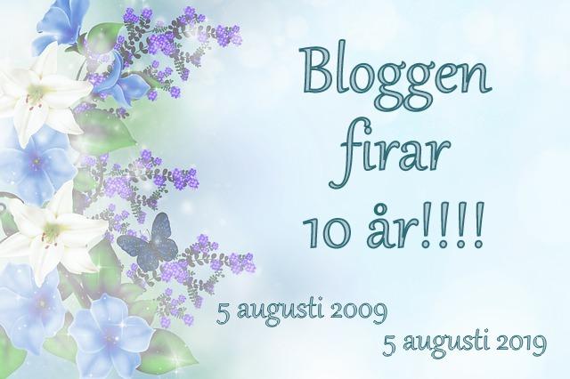 Den 5 augusti fyllde bloggen år!