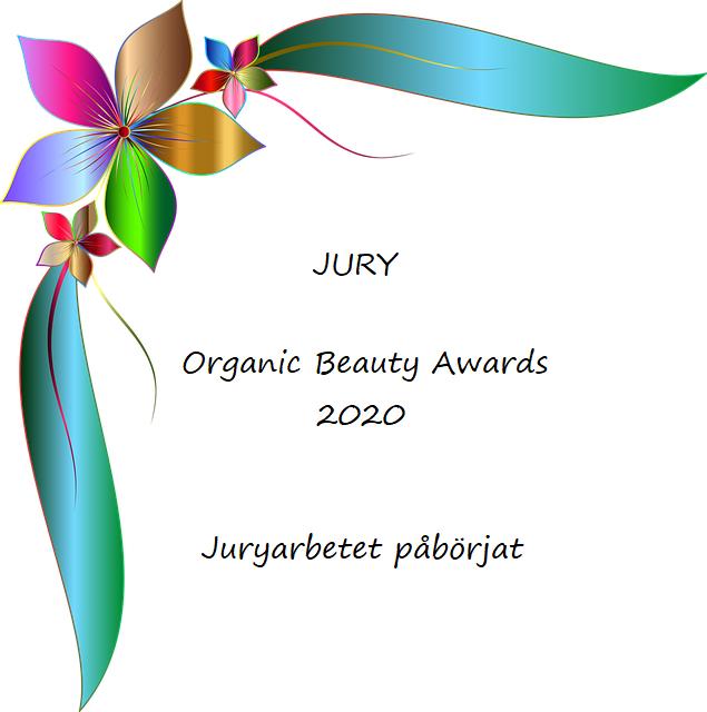 Juryarbetet påbörjat inför Organic Beauty Awards 2020