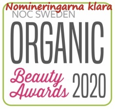 Nu är nomineringarna klara i Organic Beauty Awards 2020 . Vinnarna i Organic Beauty Awards 2020 presenteras den 24 april!