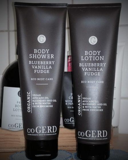 Body Shower och Body Lotion med doft av vaniljkola