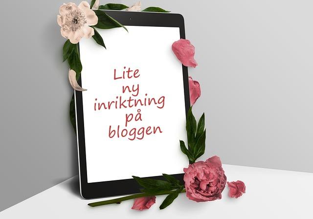 Ny inriktning på bloggen