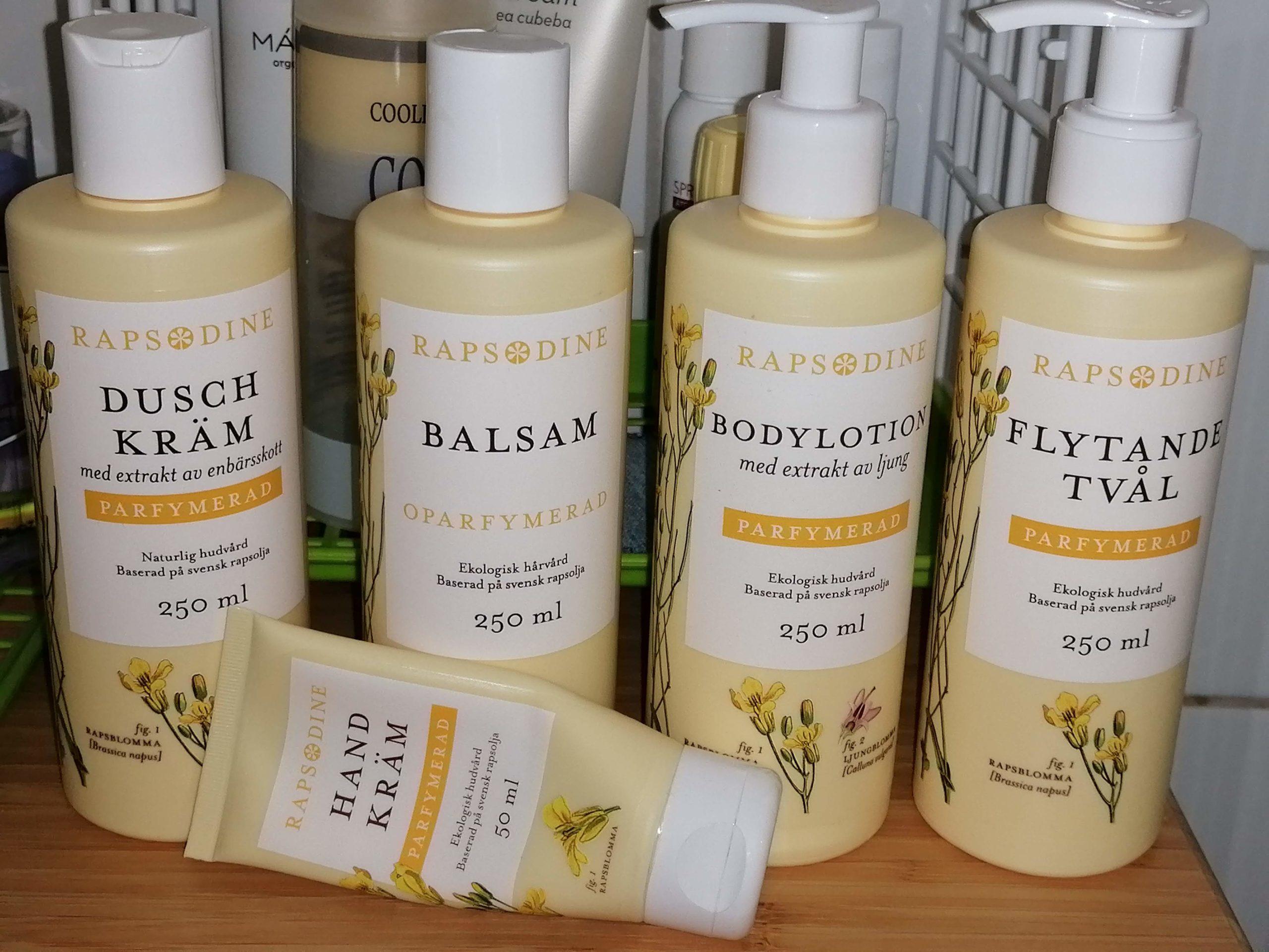RAPSODINE naturliga hudvård- och hårvårdsprodukter